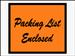 "4 1/2 x 6"" Orange Full Face Packing List Envelope 1m/cs"