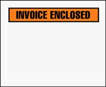 "4 1/2 x 5 1/2"" Panel Face Invoice Enclosed Envelope"