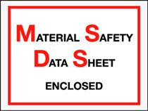 "6 1/2 x 5"" Material Safety Data Sheet Envelope 1m/cs"
