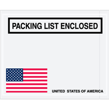 "4 1/2 x 5 1/2"" U.S.A. Flag ""Packing List Enclosed"""